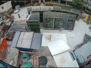 מצלמת אבטחה באתר בנייה