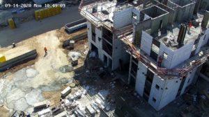 מצלמת PTZ באתר בנייה