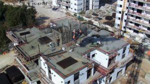 מצלמת אבטחה PTZ באתר בנייה